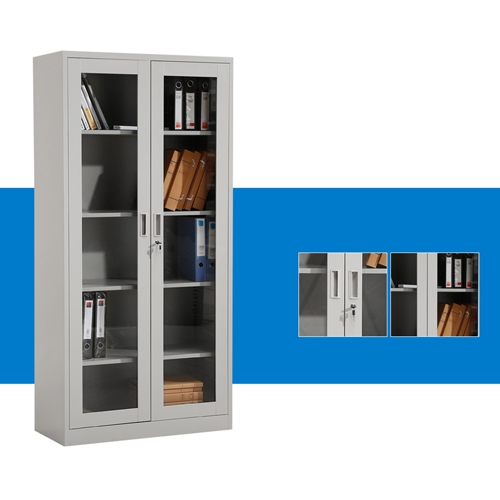 Metal File Storage Cabinet with Glass Door Image 6