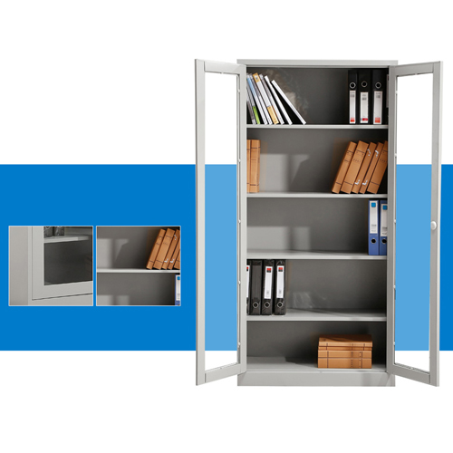 Metal File Storage Cabinet with Glass Door Image 7