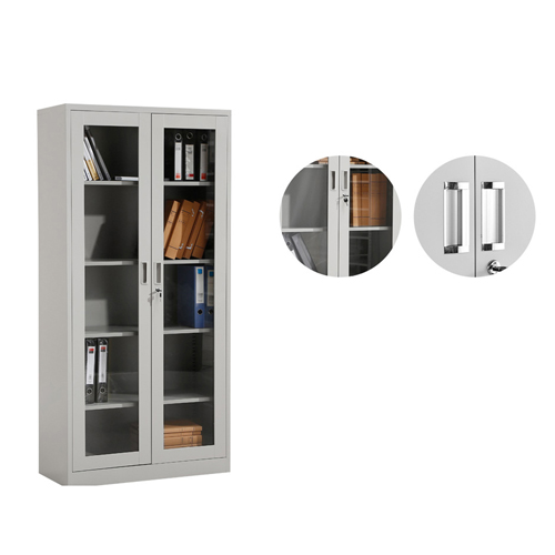 Metal File Storage Cabinet with Glass Door Image 8