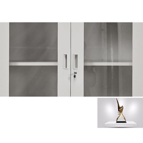 Glass Door Metal Storage Modern Cabinet Image 14