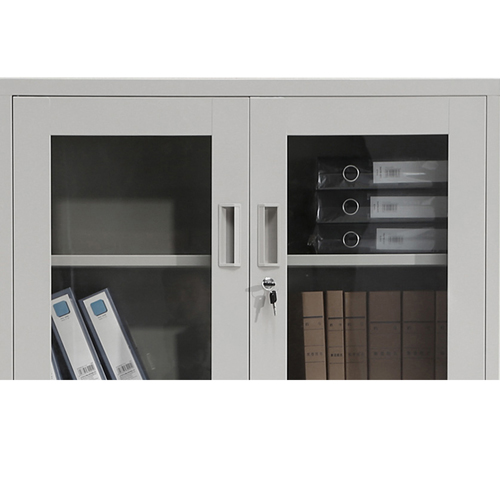 Glass Door Metal Storage Modern Cabinet Image 15