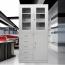 Glass Door Metal Storage Modern Cabinet Image 4