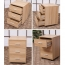 3 Drawer Wood File Cabinet With Wheels Image 12
