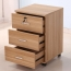 3 Drawer Wood File Cabinet With Wheels Image 2