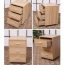 3 Drawer Wood File Cabinet With Wheels Image 3