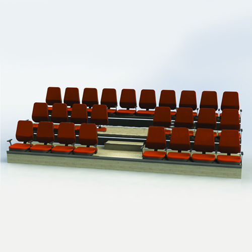 Folding Backrest Stadium Armchair Image 1