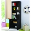 Modern Bookshelf Rack With Locker Cabinet Image 11