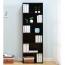 Modern Bookshelf Rack With Locker Cabinet Image 12