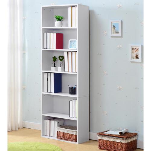 Modern Bookshelf Rack With Locker Cabinet Image 17