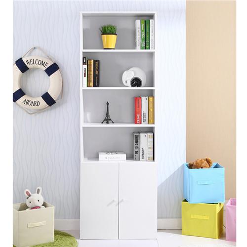 Modern Bookshelf Rack With Locker Cabinet Image 18
