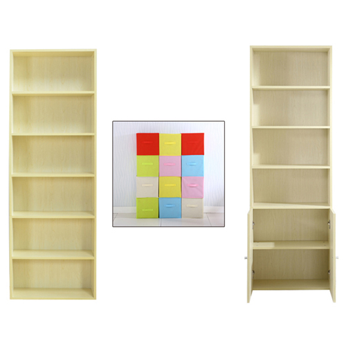 Modern Bookshelf Rack With Locker Cabinet Image 22