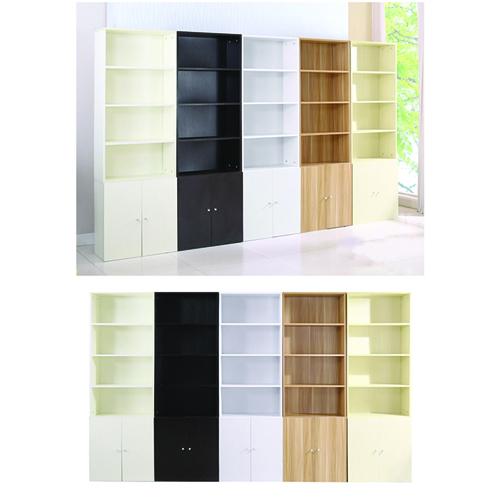 Modern Bookshelf Rack With Locker Cabinet Image 23