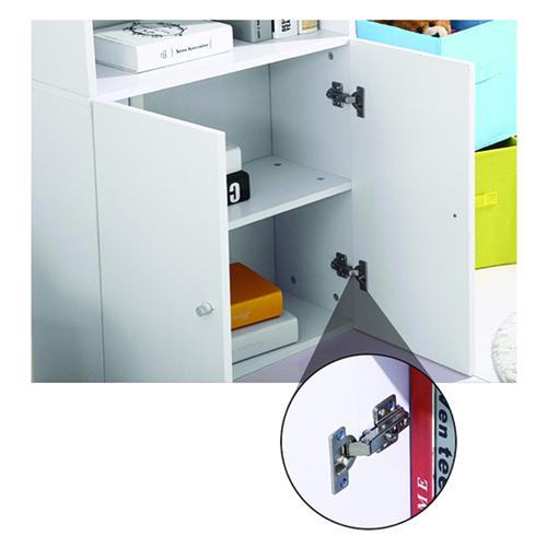Modern Bookshelf Rack With Locker Cabinet Image 26