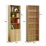Modern Bookshelf Rack With Locker Cabinet Image 29