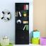 Modern Bookshelf Rack With Locker Cabinet Image 2