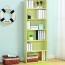 Modern Bookshelf Rack With Locker Cabinet Image 4