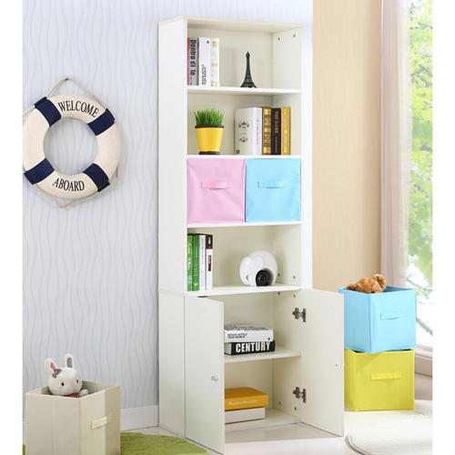 Modern Bookshelf Rack With Locker Cabinet Image 5