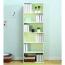 Modern Bookshelf Rack With Locker Cabinet Image 6