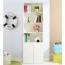 Modern Bookshelf Rack With Locker Cabinet Image 7