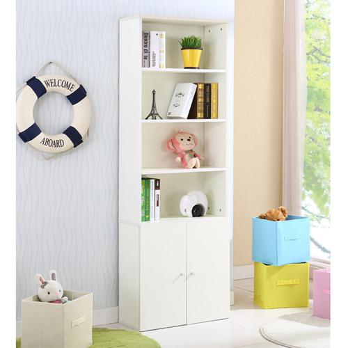 Modern Bookshelf Rack With Locker Cabinet Image 8