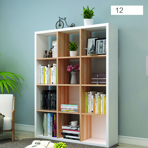 Multi-Lattice Square Grid Bookcase Image 9