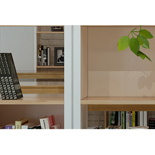 Multi-Lattice Square Grid Bookcase Image 13