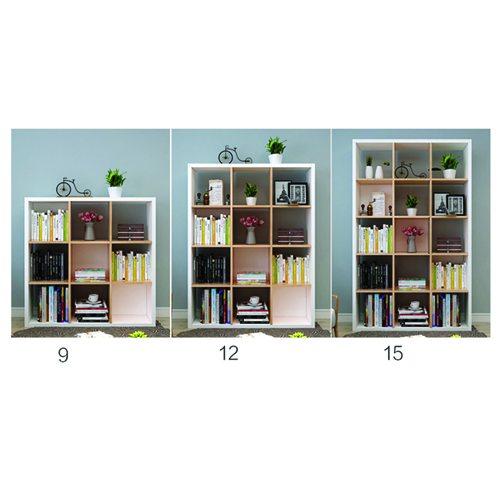Multi-Lattice Square Grid Bookcase Image 14