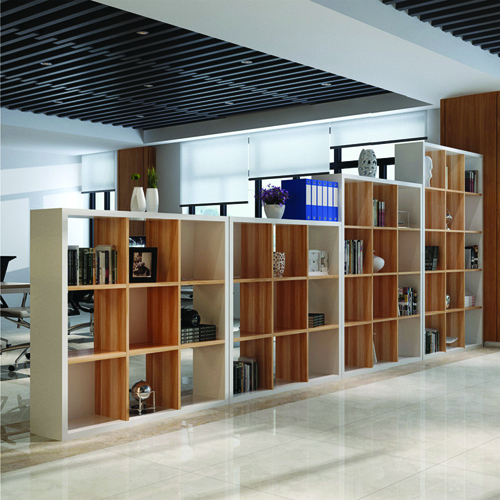 Multi-Lattice Square Grid Bookcase Image 1