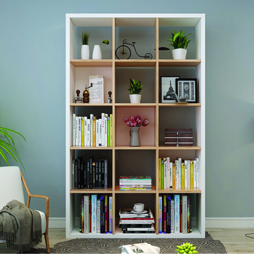 Multi-Lattice Square Grid Bookcase Image 2