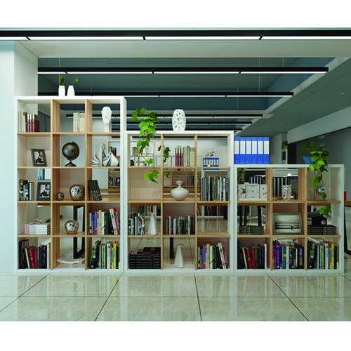 Multi-Lattice Square Grid Bookcase