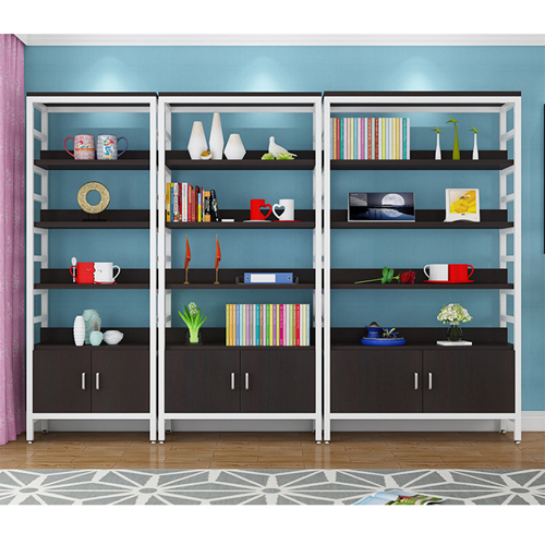 Wooden Storage Side Steel Bookshelf Image 9