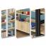 Wooden Storage Side Steel Bookshelf Image 11