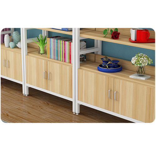 Wooden Storage Side Steel Bookshelf Image 16
