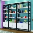 Wooden Storage Side Steel Bookshelf Image 1