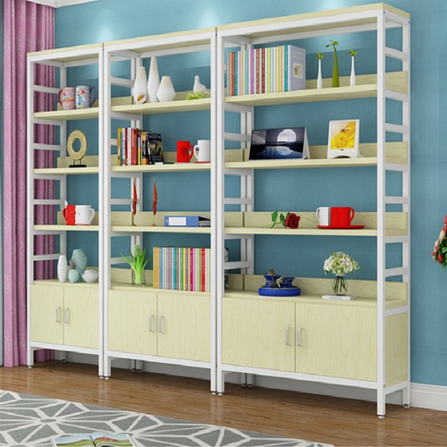 Wooden Storage Side Steel Bookshelf Image 3