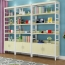 Wooden Storage Side Steel Bookshelf Image 3