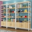Wooden Storage Side Steel Bookshelf
