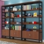Wooden Storage Side Steel Bookshelf Image 5