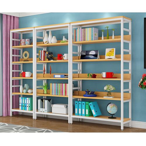 Wooden Storage Side Steel Bookshelf Image 6