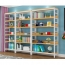 Wooden Storage Side Steel Bookshelf Image 6