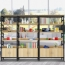 Wooden Storage Side Steel Bookshelf Image 7