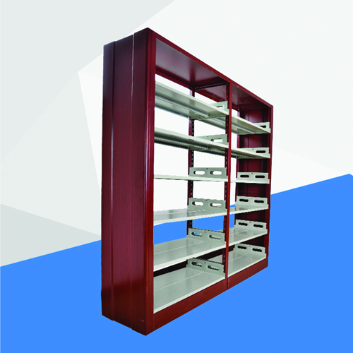 Double Sided Six Layer Steel Bookshelf