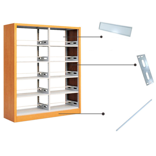 Aclima Double Sided Steel Bookshelves Image 6