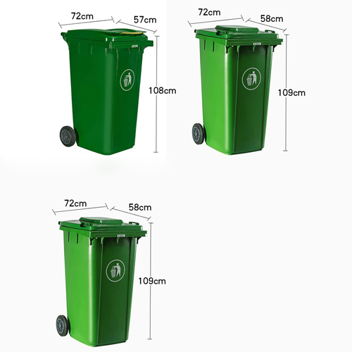 Chew Wheels Dustbin With Lid Image 15