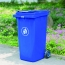 Chew Wheels Dustbin With Lid Image 2