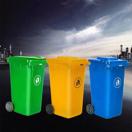 Chew Wheels Dustbin With Lid Image 4