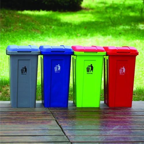 Ensemble 50L Trash Bin With Lid Image 1