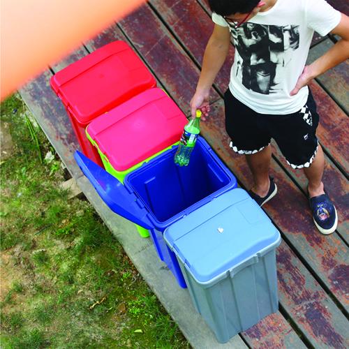 Ensemble 50L Trash Bin With Lid Image 2