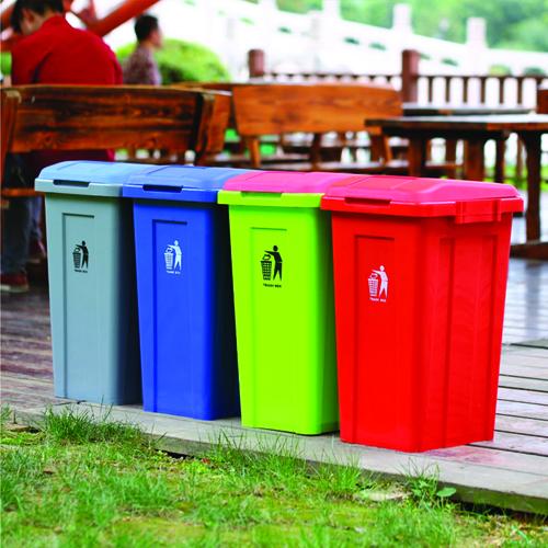 Ensemble 50L Trash Bin With Lid Image 3