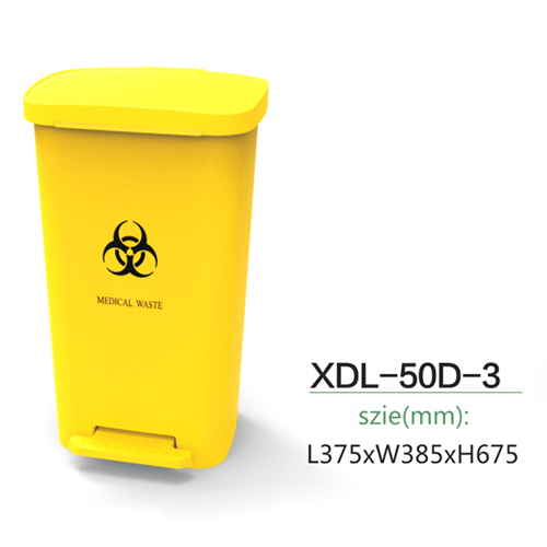 Rectangular Step-On Medical Trash With Lid Image 11